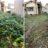 大阪府豊中市へゴミ屋敷のお片付けの為、草刈りにの作業しました。