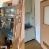 兵庫県尼崎市へ引っ越しに伴い食器棚の処分にお伺いさせて頂きました。